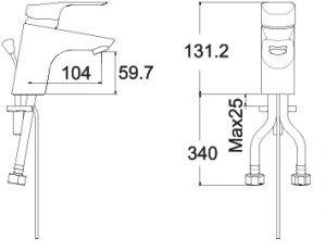 09.1 CYGNET 0301 BASIN MIXER SPECS