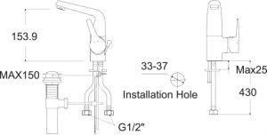 13.1 LA VITA WF-0501  BASIN MIXER SPECS